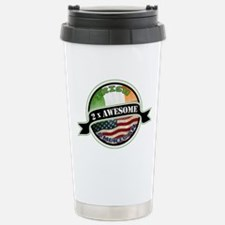 2x Awesome Irish American Travel Mug
