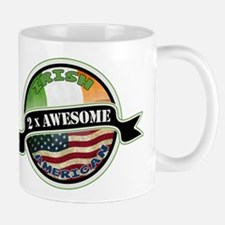 2x Awesome Irish American Mug