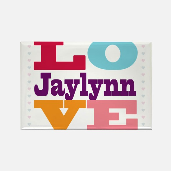 I Love Jaylynn Rectangle Magnet
