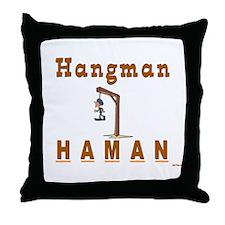 Purim Hangman Haman Throw Pillow