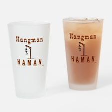 Purim Hangman Haman Drinking Glass