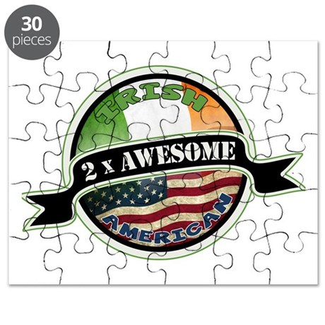 2x Awesome Irish American Puzzle