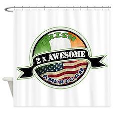 2x Awesome Irish American Shower Curtain