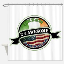 2x Awesome Irish American Shower Curtain