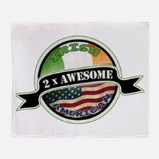 2x Awesome Irish American Throw Blanket