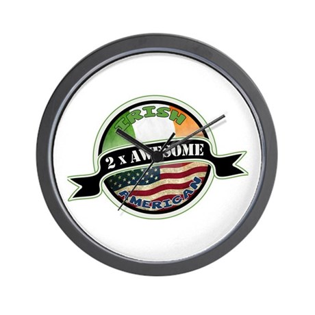 2x Awesome Irish American Wall Clock