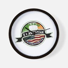 2x Awesome Irish American Wall Clock