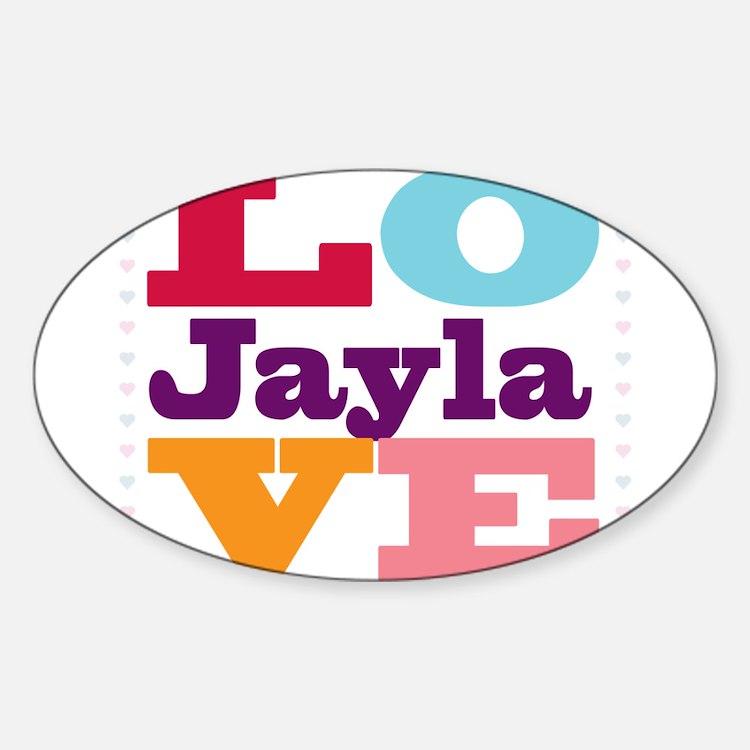 I Love Jayla Sticker (Oval)