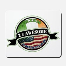 2x Awesome Irish American Mousepad