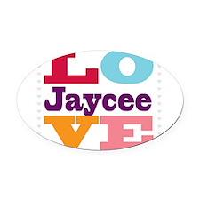 I Love Jaycee Oval Car Magnet