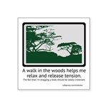 Relaxing Walk Square Sticker 3
