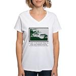 Relaxing Walk Women's V-Neck T-Shirt