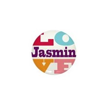 I Love Jasmin Mini Button