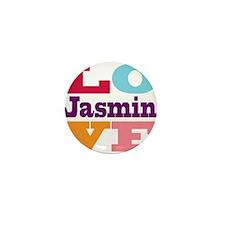 I Love Jasmin Mini Button