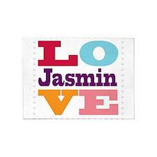 I Love Jasmin 5'x7'Area Rug