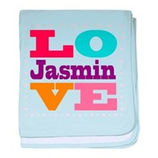 I Love Jasmin baby blanket
