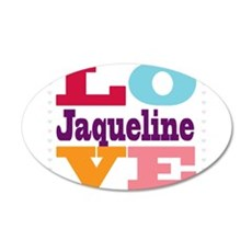 I Love Jaqueline Wall Decal