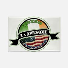 2x Awesome Irish American Rectangle Magnet