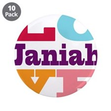 "I Love Janiah 3.5"" Button (10 pack)"