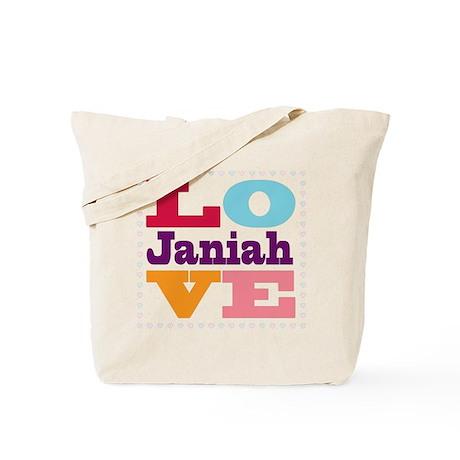 I Love Janiah Tote Bag
