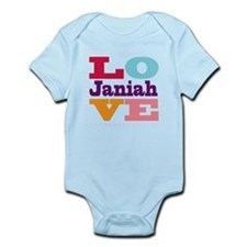I Love Janiah Infant Bodysuit