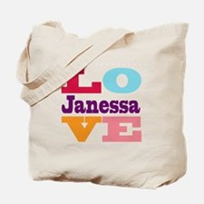 I Love Janessa Tote Bag