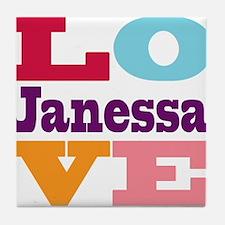 I Love Janessa Tile Coaster