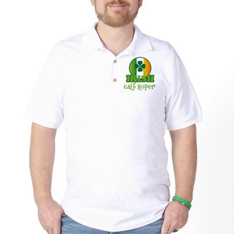 Irish Calf Roper St Patricks Golf Shirt