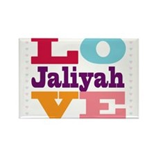 I Love Jaliyah Rectangle Magnet