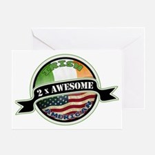 2x Awesome Irish American Greeting Card