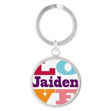 I Love Jaiden Round Keychain