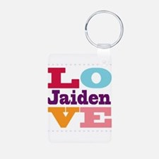 I Love Jaiden Aluminum Photo Keychain