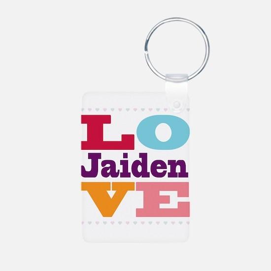 I Love Jaiden Aluminum Photo Keychain
