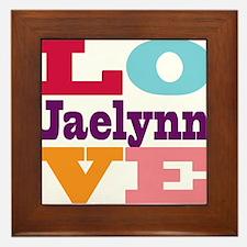 I Love Jaelynn Framed Tile