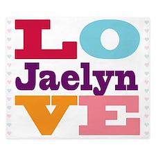 I Love Jaelyn King Duvet