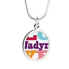 I Love Jadyn Silver Round Necklace
