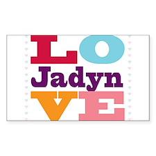 I Love Jadyn Decal
