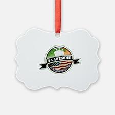2x Awesome Irish American Ornament
