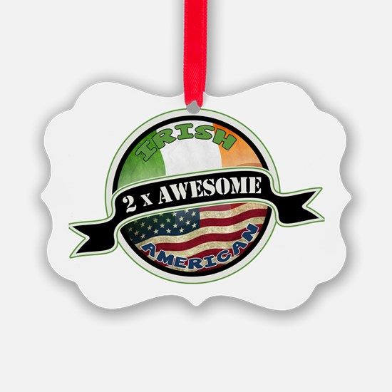 2x Awesome Irish American Ornament