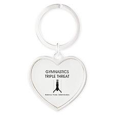 Gymnastics Teepossible.com Heart Keychain