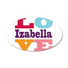 I Love Izabella Wall Decal