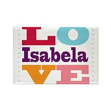 I Love Isabela Rectangle Magnet
