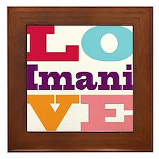 I Love Imani Framed Tile