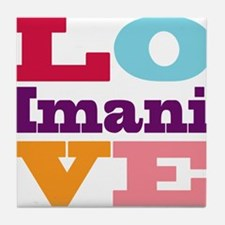 I Love Imani Tile Coaster