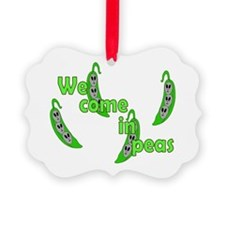We Come In Peas Picture Ornament