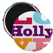 "I Love Holly 2.25"" Magnet (100 pack)"
