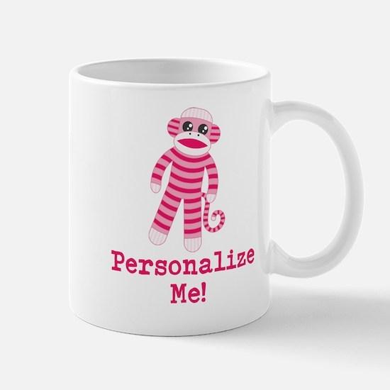 Pink Sock Monkey Mug