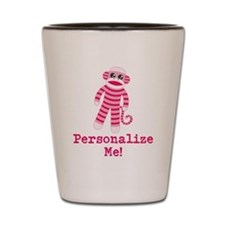 Pink Sock Monkey Shot Glass
