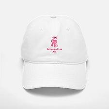 Pink Sock Monkey Baseball Baseball Cap