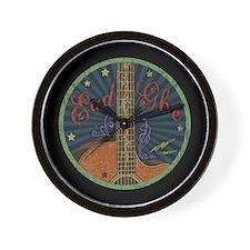 Eadgbe - grungy Wall Clock